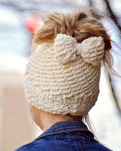 Katlyn Messy Bun Beanie Crocheted Ponytail Hat Messy Bun Hat Ponytail Hat Crochet Garden Design Made To Order So Many Colors Katlyn Messy Bun Hat Or Regular Hat Crocheted Por Crochetgarden Penguin Hat, Crochet Penguin, Free Crochet, Crochet Hats, Crochet Pony, Sombrero A Crochet, Bow Pattern, Ear Hats, Crochet Magazine