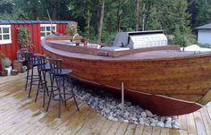 Boat bar! | Basement Decoration Ideas | Pinterest