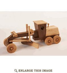 Child Motor Grader Woodworking Plan, Kid Toy Project Plan | WOOD Store