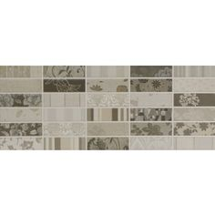 Although I'm not a huge mosaic fan, I'm rather keen on this combination! Mosaic Wall Tiles, Wall And Floor Tiles, Border Tiles, Grey Walls, Bathroom Ideas, Fan, Flooring, Home Decor, Gray Walls