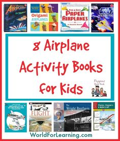Our favorite airplane activity books to help your family make paper airplanes, draw and color planes of the past, and explore hands-on projects.