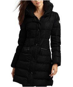 discount moncler clothing - Moncler Fashion Leisure Women Down Coats Goose Long Black