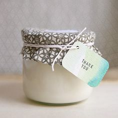 Make a couple different scents using essential oils for the teacher who loves candles. {DIY} Soy Candle. Great idea and Eco friendly!  :)