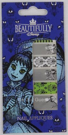Beautifully Disney Nail Appliques Sticker Haunted Mansion New