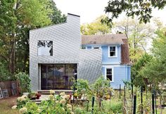 "Adventurous but subtle. Something different that doesn't scream for attention. These were the prompts John and Erika Jessen gave to architect Elijah Huge for the addition to their 1920s home in New Haven, Connecticut. With those in mind, Huge set out to find a cladding material that was both eye-catching and cost-effective. ""Good design doesn't require the most expensive materials. However, it does take time to explore ideas and find innovative solutions,"" says Huge, who, through online ..."