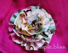 Simple Bliss: Ruffled Flower Rosette Tutorial