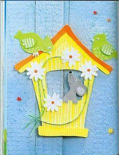 Topp - Frühlingszeit - Bastelzeit - Comatus Coprinus - Picasa Webalbums Bird Crafts, Paper Crafts, Wooden Cutouts, Construction Paper, Spring Crafts, Art School, Decoration, Paper Cutting, Crafts For Kids