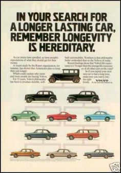 1980 - VOLVO - Vintage AD - 55 years Volvo's philosophy