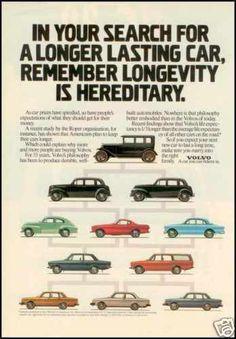 1980 - VOLVO - Vintage AD - 55 years Volvo's philosophy