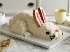 Easter Bunny Coconut Cake Recipe-- Baker's Joy - bakersjoy.com #baking #easter #delicious