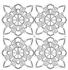 New Woman's Crochet Patterns Part 16 - Beautiful Crochet Patterns and Knitting Patterns Crochet Shawl Diagram, Crochet Motif Patterns, Crochet Blocks, Crochet Chart, Crochet Squares, Thread Crochet, Crochet Granny, Crochet Doilies, Knitting Patterns