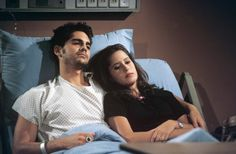 Robin (Kimberly McCullough) stayed by Stone's (Michael Sutton) bedside while he was provided with the latest life-enhancing treatment available to deal with the deadly virus AIDS.