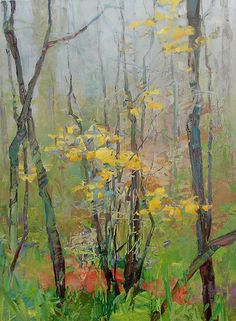 ☼ Painterly Landscape Escape ☼ landscape painting by Randall David Tipton, Fog on the Mountain