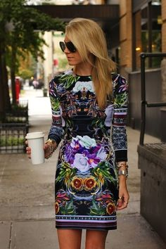 Elaborate print on dress