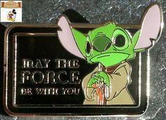 #DisneyPin #StarWars™ Mystery Pin Collection Characters with Quotes #Stitch as #Yoda Only