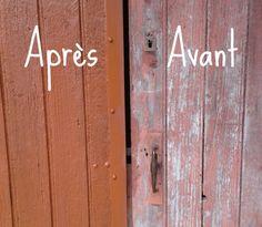 DIY : Comment renover une vieille porte en bois #DIY #rénovation #écologique #peinture #homemade #porte #bois #travaux