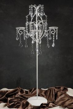 "36"" Taper Candle Candelabra with Crystals 4 candle $30"