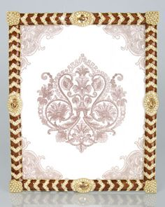 """Alden Crystal Chevron 8"""" x 10"""" Frame by Jay Strongwater at Neiman Marcus."""
