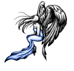 Angel tattoo Design by on DeviantArt Soul Tattoo, Demon Tattoo, Cool Sketches, Tattoo Sketches, Ricks Tattoo, Engel Tattoo, Sad Angel, Pisces Tattoos, Body Is A Temple
