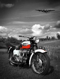 Triumph Bonnie & Lancaster bomber