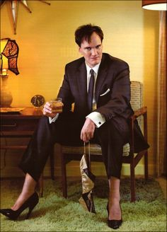 Fact: Quentin Tarantino has a foot fetish. Fact: I'd let him drip wax on my toes while I quote Pulp Fiction. Quentin Tarantino, Tarantino Films, Men In Heels, High Heels, Stiletto Heels, I Movie, Movie Stars, Ellen Von Unwerth, Hollywood