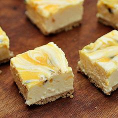Passion Fruit Lemon No-Bake Cheesecake with Brown Butter Crust / Vintage Kitchen