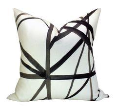 Black Pillow  Decorative Pillow Cover,Kelly Wearstler Pillow,