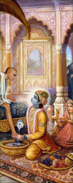 Lord Krishna & Sudama-http://www.krishnalilas.com/79-meeting-of-lord-krishna.htm