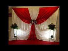Best ideas for wedding ceremony stage decor simple Backdrop Decorations, Reception Decorations, Event Decor, Wedding Stage, Wedding Ceremony, Rideaux Design, Church Stage Design, Backdrop Design, Paper Flower Backdrop