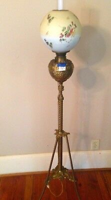 It Is In The Rochester Style 1880 S Antique Brass Victorian Oil Kerosene Floor Piano Lamp The Lamp Would Stand On The Floor Lamp Floor Lamp Antique Oil Lamps