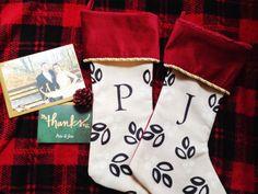 Personalized holiday stockings #decor #holiday