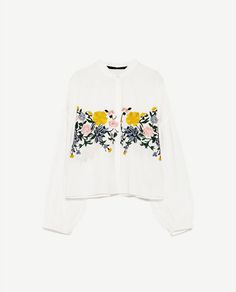Image 8 of FLORAL EMBROIDERED SHIRT from Zara