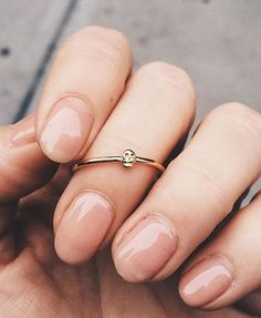 @bingbangnyc - Tiny Skull Ring, dainty and minimal.