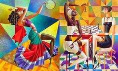 20 Vibrant Cubist Art works and Illustrations by Georgy Kurasov. Follow us www.pinterest.com/webneel
