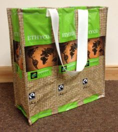 Upcycle foil coffee bags into a reusable shopping bag