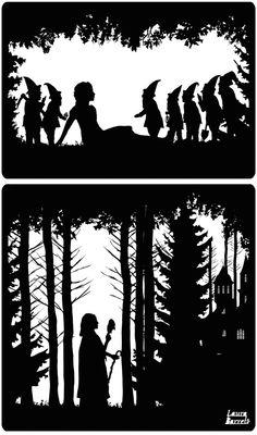 The Guardian Great Fairytales - Laura Barrett - London Based Freelance Silhouette Illustrator - Illustration Portfolio