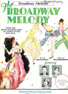 Broadway Melody 1929 movie sheet music