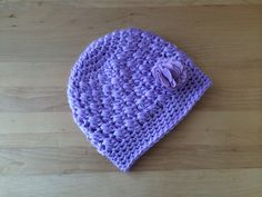 A personal favorite from my Etsy shop https://www.etsy.com/listing/257712019/lilac-crochet-baby-hat-with-removable