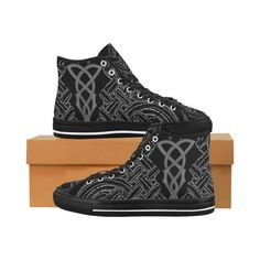 Celtic Vibe High Tops High Tops, Mens Canvas Shoes, Athletic Trainer, Celtic Designs, Celtic Knot, Knots, Fashion Shoes, Style, We