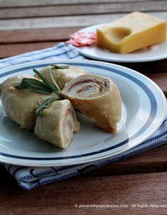 Chicken roll-ups - Involtini di pollo con prosciutto e formaggio