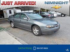 2004 Chevrolet Chevy Impala Base Call for Price  miles 904-507-0626 Transmission: Automatic  #Chevrolet #Impala #used #cars #NimnichtChevrolet #Jacksonville #FL #tapcars