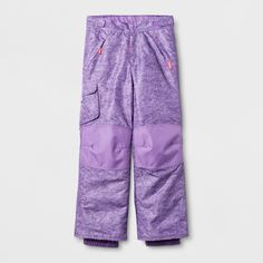 Girls' Snow Pants - C9 Champion Purple XS