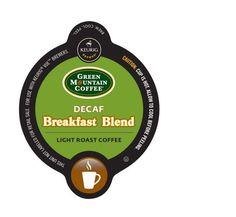 16-Count Green Mountain Coffee® Decaf Breakfast Blend Coffee for Keurig® Brewers #GreenMountainCoffee