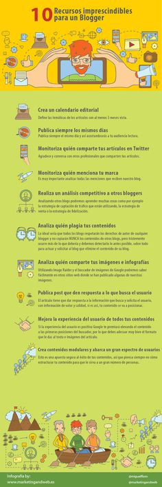 10 recursos imprescindibles para un blogger #infografia