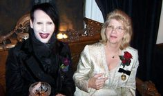 """when asked what his greatest regret in life was: Marilyn Manson replied """"not spending enough time with my mom."""" - Manson & his Mom"""