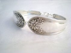 Spoon Bracelet Silverware Jewelry Silver Antique - we sell rings, earrings, bracelets and necklaces - makes a great gift and a little something for you!