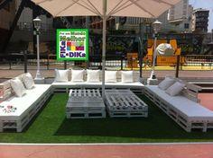 Mobília para jardim feita de Pallets