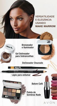 Versatilidade no look: veja 6 dicas de maquiagem marrom  #batommarrom #efeitocromado #lápismarrom #maquiagemmarrom #sombramarrom