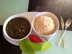 Pondu & Rice Congolese food Djenicla Traiteur Congo food Nourriture congolaise