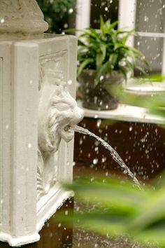 Courtyard Fountain detail at Hotel Mazarin www.hotelmazarin.com. Credit: Arte De Vie